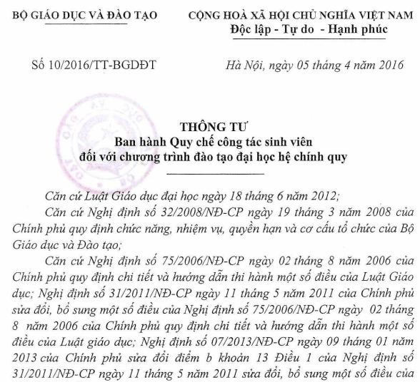 Bộ GD quy định 10 điều sinh viên không được làm