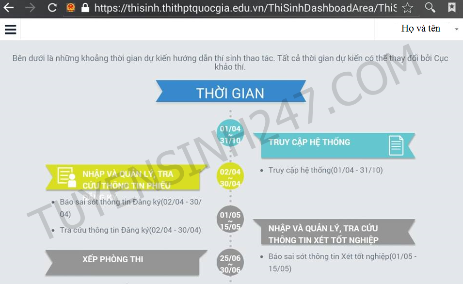 Kiểm tra thông tin hồ sơ đã nộp trên trang của BGD
