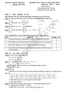 Đề thi học kì 2 lớp 8 môn Toán - THCS Trung Lèng Hồ 2016