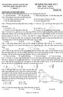 Đề thi học kì 2 lớp 12 môn Vật Lý - THPT Chương Mỹ A 2016