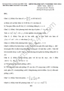 Đề thi học kì 2 lớp 12 môn Toán - THPT Nguyễn Văn Linh 2016