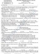 Đề thi thử THPT Quốc gia môn Vật Lý 2016 - THPT Hải Lăng lần 2
