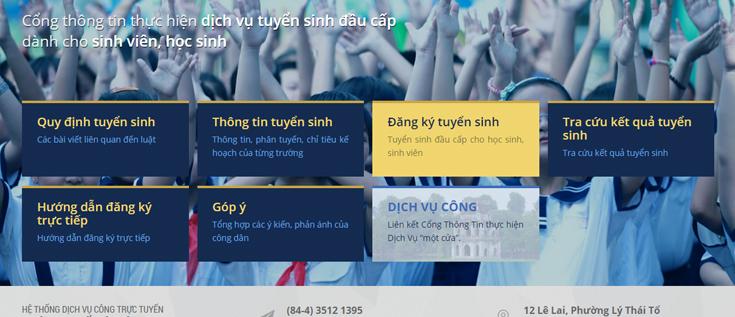 ://tsdaucap.hanoi.gov.vn/- Hướng dẫn sử dụng dịch vụ tuyển sinh trực tuyến