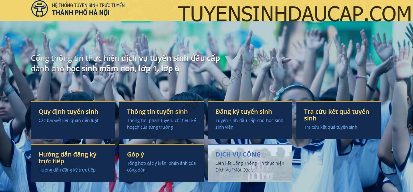 tsdaucap.hanoi.gov.vn - Thời hạn đăng tuyển sinh trực tuyến