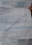 Đáp án đề thi vào lớp 10 môn Toán tỉnh Thanh Hóa 2016
