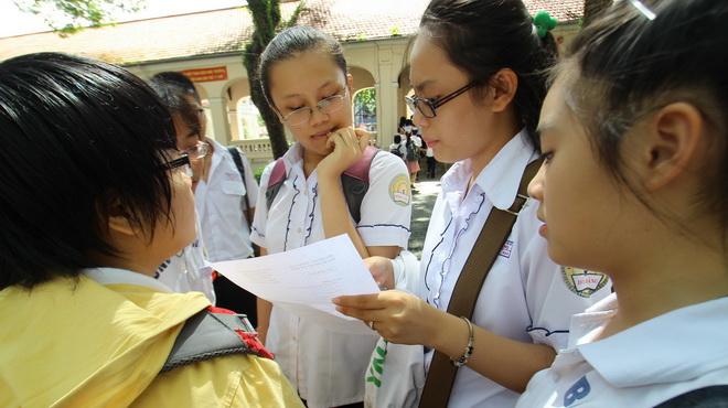 Điểm thi vào lớp 10 trường Phổ thông Năng khiếu năm 2016