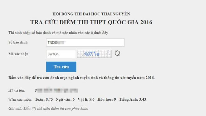 Đại học Thái Nguyên công bố điểm thi THPT quốc gia