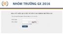 Điểm chuẩn nhóm GX của 12 trường đại học 2016