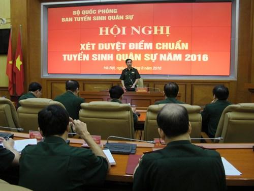 Bộ Quốc phòng xét duyệt điểm chuẩn các trường quân đội 2016