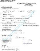 Đề thi giữa học kì 1 lớp 7 môn Toán - THCS Yên Phong
