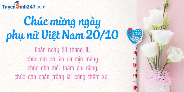 SMS kute 20/10 chúc mừng ngày phụ nữ Việt Nam ý nghĩa nhất