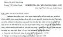 Đề thi học kì 1 môn Văn lớp 9 -  THCS Minh Thạnh 2016