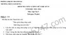 Đề thi giữa học kì 2 môn Văn  - THCS Tam Hưng 2016