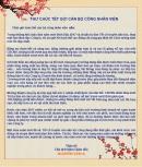 Lời chúc tết nhân viên- Thư chúc tết CBCNV đầu xuân năm mới