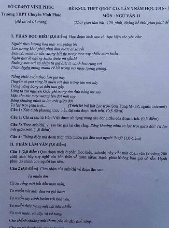 Bài hát \'Lạc trôi\' vào đề văn lớp 11 gây tranh cãi