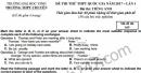 Đề thi thử THPT Quốc gia 2017 môn Anh - Chuyên ĐH Vinh lần 1