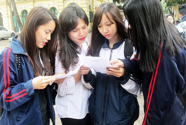 Đáp án đề thi thử THPTQG môn Lý, Hóa, Sinh (KHTN) - Sở GD Hà Nội 2017