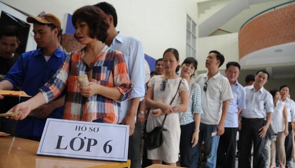 Thông tin tuyển sinh vào lớp 1, lớp 6 tại Hà Nội 2017
