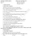 Đề thi học kì 2 lớp 4 môn Sử, Địa 2017 - TH Đồng Kho 1