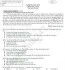 Đề thi học kì 2 lớp 6 môn Văn - THCS Huỳnh Hữu Nghĩa 2017