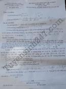Đáp án đề thi vào lớp 10 môn Toán tỉnh Bắc Ninh 2017