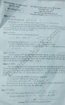 Đáp án đề thi vào lớp 10 môn Toán tỉnh Quảng Ngãi năm 2017