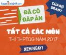 Đáp án đề thi THPTQG 2017 chính thức của Bộ GD&ĐT