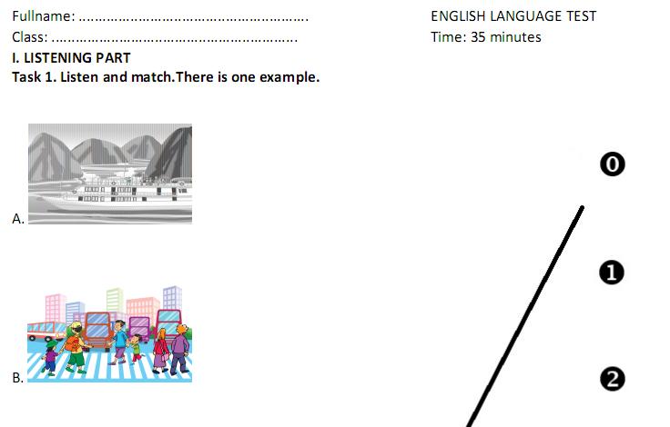 Đề thi giữa kì 1 lớp 5 môn Tiếng Anh năm 2017