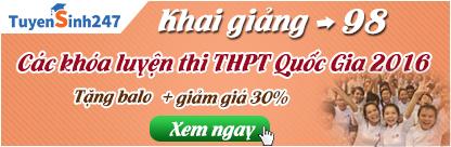 khai giảng các khóa luyện thi THPT Quốc Gia 2016