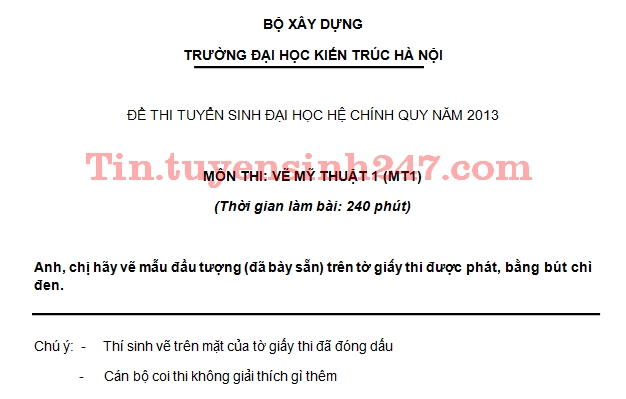 De thi dai hoc mon Ve khoi V nam 2013