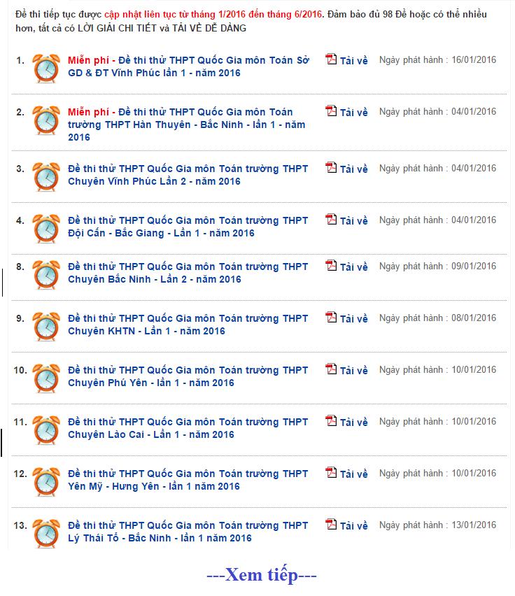 Tai 600 De thi thu THPT 2016 moi nhat (Co loi giai chi tiet)
