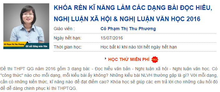7 buoc de co diem cao bai nghi luan y kien van hoc thi THPT quoc gia