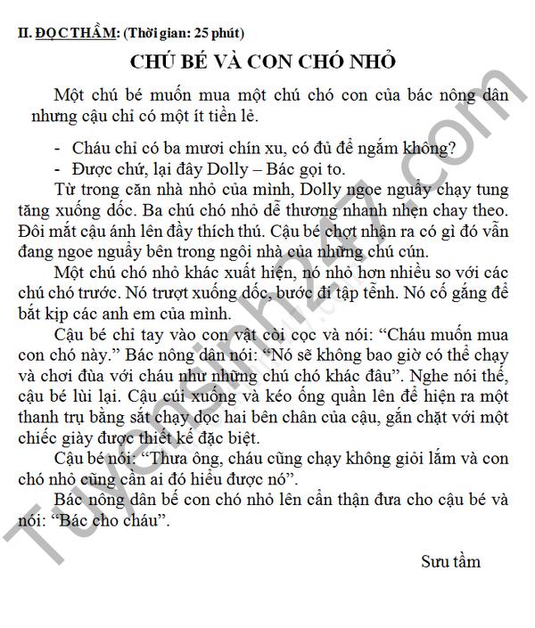 De thi hoc ki 2 lop 4 nam 2016 mon Tieng Viet – TH Tran quang Khai
