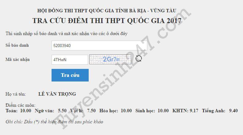 Da co nhung thi sinh dat 30 diem Thi THPT Quoc gia 2017