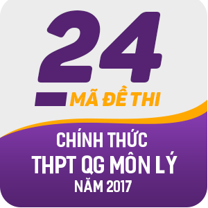 24 MÃ ĐỀ THI CHÍNH THỨC THPT QUỐC GIA MÔN VẬT LÝ NĂM 2017 (CÓ LỜI GIẢI CHI TIẾT)