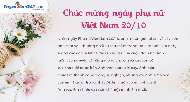 10 tam thiep 20/10 dep nhat chuc mung ngay phu nu Viet Nam