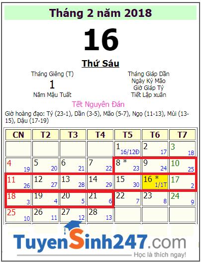 Lich nghi tet 2018 hoc sinh An Giang la 14 ngay