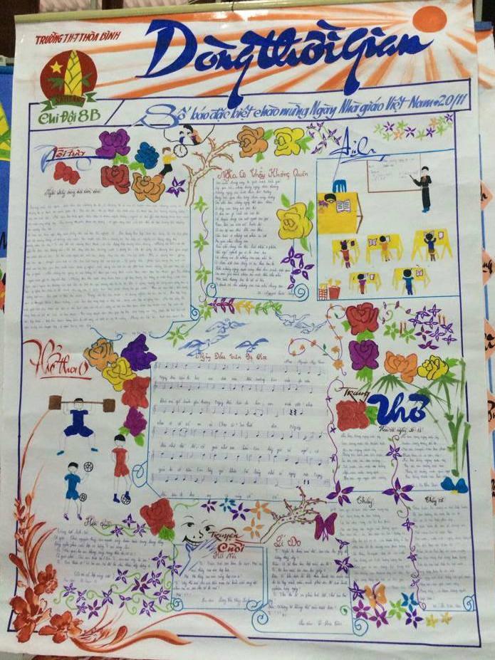 Hình ảnh Ngày 20/11: Những mẫu báo tường đẹp và ấn tượng nhất để tri ân thầy cô giáo số 12