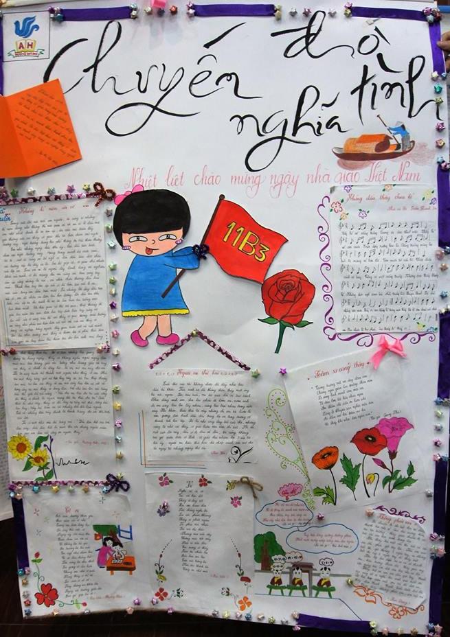 Hình ảnh Ngày 20/11: Những mẫu báo tường đẹp và ấn tượng nhất để tri ân thầy cô giáo số 4