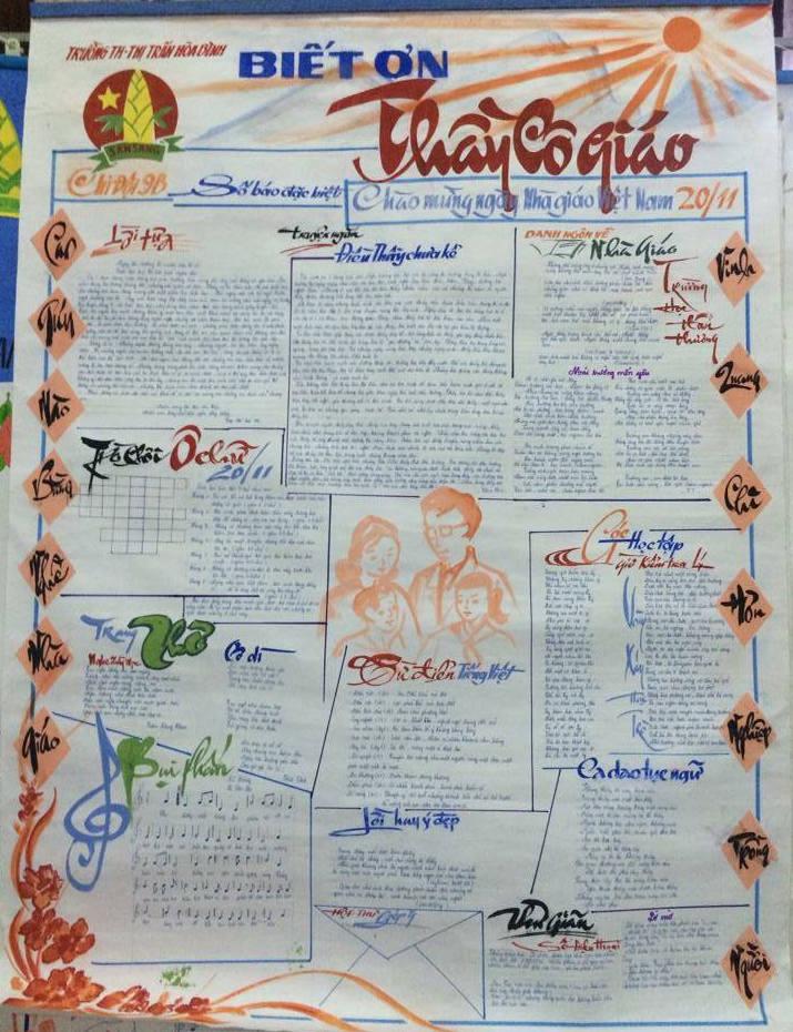 Hình ảnh Ngày 20/11: Những mẫu báo tường đẹp và ấn tượng nhất để tri ân thầy cô giáo số 14