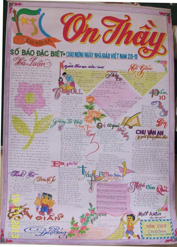 Hình ảnh Ngày 20/11: Những mẫu báo tường đẹp và ấn tượng nhất để tri ân thầy cô giáo số 13