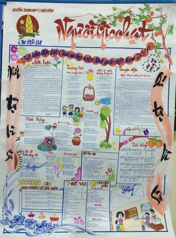 Hình ảnh Ngày 20/11: Những mẫu báo tường đẹp và ấn tượng nhất để tri ân thầy cô giáo số 9