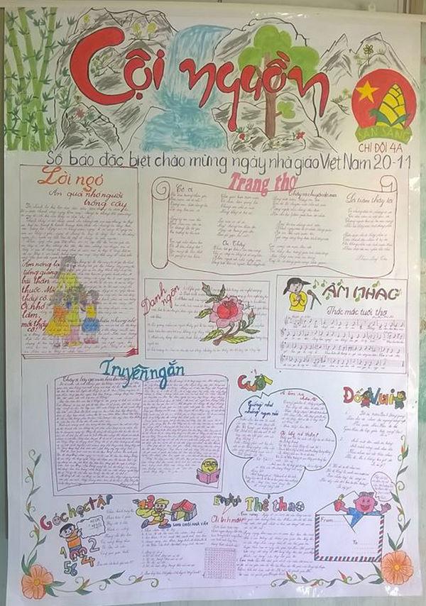 Hình ảnh Ngày 20/11: Những mẫu báo tường đẹp và ấn tượng nhất để tri ân thầy cô giáo số 8