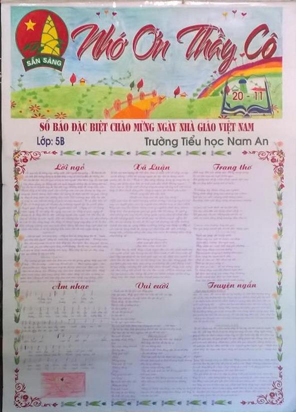 Hình ảnh Ngày 20/11: Những mẫu báo tường đẹp và ấn tượng nhất để tri ân thầy cô giáo số 7