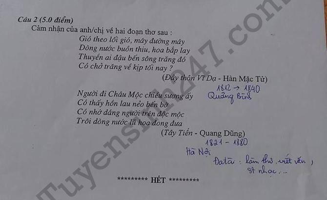 De thi thu THPTQG mon Van 2018 - THPT Quang Xuong 1