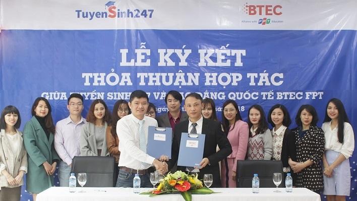 Truong Cao dang Quoc te BTEC FPT hop tac voi Tuyensinh247.com