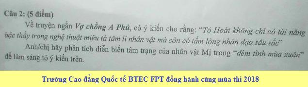 De thi thu THPTQG mon Van THPT Chuyen Thai Nguyen 2018 lan 1