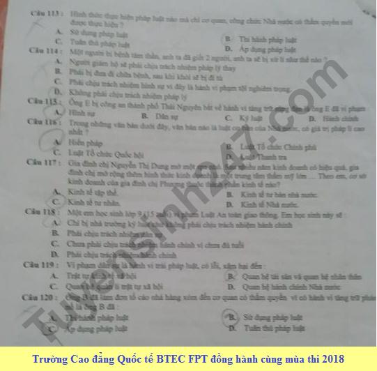 De thi thu THPT Quoc gia mon GDCD nam 2018 lan 1 Chuyen Thai Nguyen