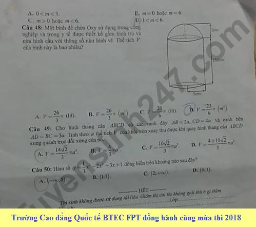 De thi thu THPTQG mon Toan Chuyen Thai Nguyen lan 1 nam 2018