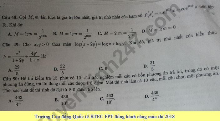 De thi thu THPT Quoc gia mon Toan So GD Bac Ninh 2018